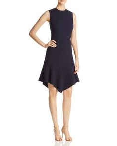 DKNY Sleeveless Flounce Hem Dress | Bloomingdale's