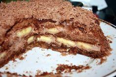 Рецепт Шоколадно-банановый торт из пряников Пряники шоколадные разрезать вдоль, каждый на 3 части. Приготовить крем. Для этого в сметану добавить кака...