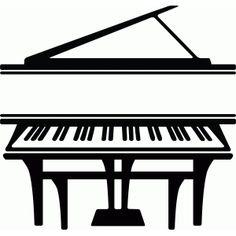 Silhouette Design Store - View Design #75028: split piano