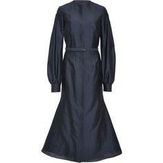 Aldina Dress | Moda Operandi ($2,495) ❤ liked on Polyvore featuring dresses, sleeved dresses, round neck dress, balloon dress and balloon sleeve dress