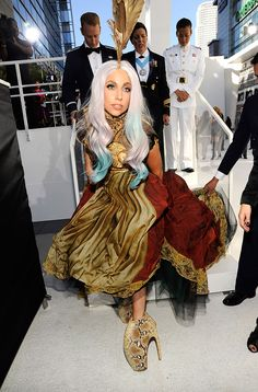 Lady Gaga's 2010 MTV VMA's outfit leaves us in awe.