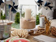Turn your backyard into a seaside retreat with some simple, nautical-themed decorations #partyinfive