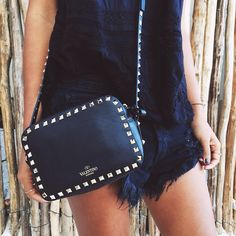 """""""All black everything in my new fave Valentino crossbody from @fwrd's Holiday Bag Shop! #lookFWRD"""""""