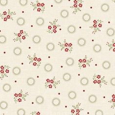 With All My Heart - Multi Floral Sprig - Red Rooster