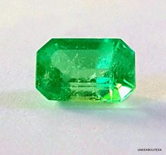 Natural Colombian Emerald Gemstone - Emerald Cut  Rectangle -1.80cts -Medium Green - Good Clarity & Cut - May Birthstone - Heart Chakra -Emerald Ring Gemstone - by TheUneekBouteek ----------------SPRING EMERALD SALE - UNTIL THE END OF MAY - 25% OFF ALL LOOSE EMERALD GEMSTONES Coupon Code in listings