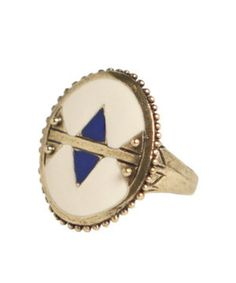 Dream Collective Holon Ring - Navajo White/Cobalt Blue