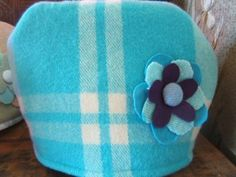 wool blanket, Upcycled into a padded tea cosy lined with vintage cotton