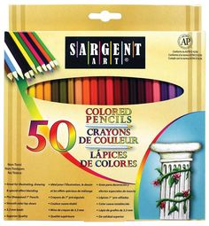 Sargent Art 50 count Colored Pencil set has a great selection of colors and comes in 7 inch long, pre-sharpened pencils. Works as a nice set to start with or to add to your art supply collection! **NO