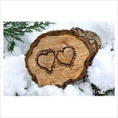 love this wood burned log