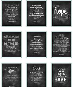 Free Chalkboard Verses Printables.