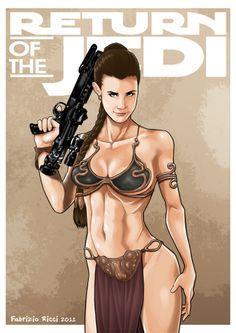 Return of the Jedi - Princess Leia by Fabrizio Ricci *