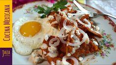 ¡ Mejores que Nunca ! Chilaquiles Rojos para la Cruda. Chilaquiles Rojos de Jauja Cocina Mexicana. Receta de Chilaquiles Rojos en salsa de jitomate y chiles guajillo y morita, sazonados con epazote y servidos con huevos, crema, queso fresco y cebolla. Receta completa paso-a-paso, tips e ingredientes de cómo hacer Chilaquiles Rojos. Muy fáciles de hacer, y buenísimos para desayunos de cruda y almuerzos con la familia. Buen provecho.  https://www.youtube.com/user/JaujaCocinaMexicana