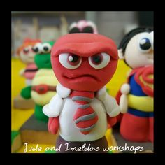 How could you stay angry with this wee guy?? Made from our own light weight air drying polymer clay.