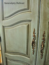 Serendipity Refined: Free Help with YOUR DIY Project Nancy's Chalk Painted Cabinet Makeover Chalk Paint Cabinets, Chalk Paint Furniture, Painting Cabinets, Diy Furniture, Armoire Cabinet, Armoire Makeover, Antique French Furniture, Distressed Painting, French Country Style