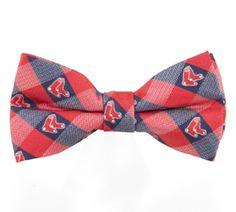 Red Sox Bow Tie Check Tie