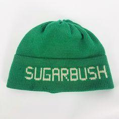 Vintage Moriarty Hat Wool Ski Cap Sugarbush Stowe Vermont Green Beanie  Toque Knit 100% Wool 02e1199508db
