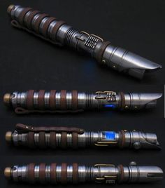Can you identify the owner of these lightsabers without seeing the color of the blade?