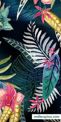 Walter Spina Estampa Floral Tropical - Orquídea - Desenvolvimento de estampas