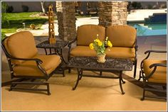 Gallery - Palm Casual Outdoor Wrought Iron Patio Furniture