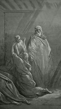 Phillip Medhurst presents detail 091/241 Gustave Doré Bible Elijah Raises the Son of the Widow of Zarephath 1 Kings 17:22-23