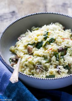 Zucchini Mushroom Risotto Recipe - creamy, easy to make family meal, made in one pot. Perfect for a weeknight dinner.