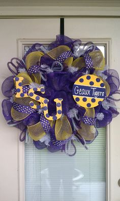 LSU Tigers Wreath  Fighting Tigers  Door by SouthernWreathDesign, $85.00