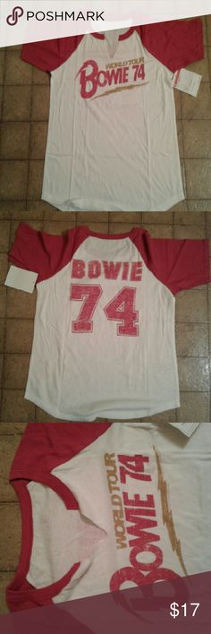 DAVID BOWIE Jearsy DAVID BOWIE Jearsy   New with Tag Rock n roll Music Festival shirt Tops