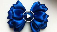 Diy ribbon flower with beads grosgrain flowers with beads t Diy Ribbon Flowers, Ribbon Flower Tutorial, Hair Bow Tutorial, Kanzashi Flowers, Ribbon Art, Ribbon Bows, Silk Flowers, Fabric Flowers, Satin Ribbon Roses