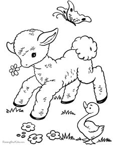 Printable Coloring Pages For Easter 002