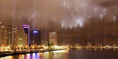 Rotterdam, The Netherlands - the area in the city-centre that was bombed in 1944 is marked by lights once a year. Poland Travel, Sweden Travel, Norway Travel, France Travel, Switzerland Places To Visit, Norway Places To Visit, Switzerland Tourism, Monaco, Twitter Cover Photo