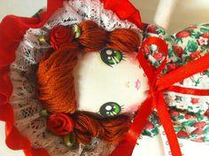 Red Strawberry Bunka Doll by TheGiftMonkey on Etsy, $20.00
