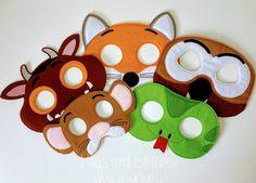 Animal Mask Gruffalo Mask Snake Mask Fox Mask Snake | Etsy Dinosaur Mask, Girl Dinosaur, Mouse Mask, Owl Mask, Animal Masks, Finger Puppets, Embroidery Thread, Hugs, Animales