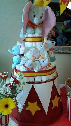 Dumbo Baby Shower - Dumbo Diaper Cake