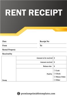 Rent Receipt Templates – The rent receipt template is a form that allows a tenant to mark their monthly rent as paid. Most commonly for the use of cash payment by the tenant to their landlord. The receipt should only be filled-in after the funds have transferred to the landlord. Rent Receipt Templates,Rent Receipt Templates buy,Rent Receipt Templates purchase