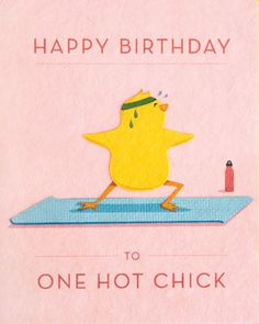 "Add your own birthday message to this ""One Hot Chick"" handmade birthday card…"