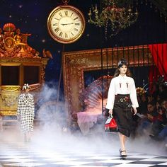 Pin for Later: Disney Fangirls Will Freak Over Dolce & Gabbana's Fall Runway Show A Misty Atmosphere Whisked Show Goers Away Into the D&G Fantasy