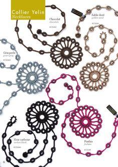 Modelos de Bisuteria Bijoux oya  Pulseras de Crochet Inspiracion