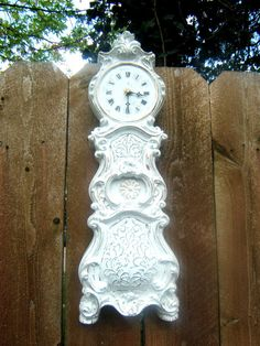 Vintage Shabby Chic Wall Clock by antique2chic on Etsy, $65.00