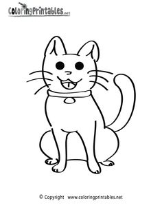 Kitten Coloring Page - A Free Animal Coloring Printable Animal Coloring Pages, Color Activities, Worksheets For Kids, My Girl, Homeschool, Kittens, Snoopy, Printables, Colouring