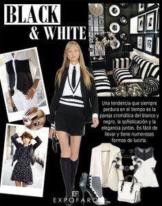 Una tendencia que siempre perdurará en el tiempo es la pareja cromática de blanco y negro, la sofisticación y la elegancia juntas. Es fácil de llevar y tiene numerosas formas de lucirla
