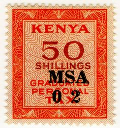 Kenya Graduated Personal Tax 50s 1966