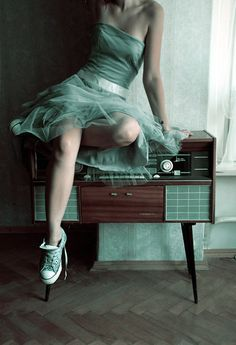 The pretty dress, the awesome Converse..great color