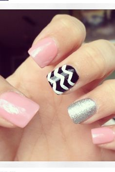 pale pink nails with design - Google Search