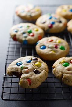 Soft M&M Cookies - These M&M Cookies are fantastic.  They are insanely soft and chewy and you need to make them!