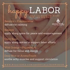 Support your body naturally during your labor and delivery! #pregnancyessentials #essentialoils #doterra #happymama #labor #pregnancy #essentiallyhiswisdom