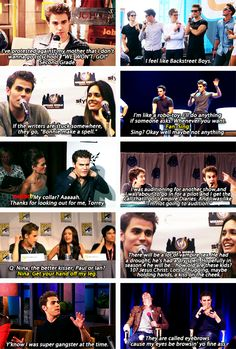 """Paul Wesley is the funniest person I've ever met."" - Julie Plec"