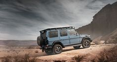 The Mercedes-Benz G 350 d Professional in the desert.