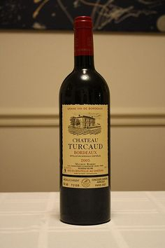 2005 Chateau Turcaud Bordeaux. Can be enjoyed even when quite young thanks to its intrinsic fruitiness, and even benefits from being served slightly chilled. This wine reaches its peak within five to eight years after the vintage, slightly longer if in magnum. It pairs beautifully with poultry and red meat, especially entrecôte steak cooked over vine cuttings, as well as the cheese platter.  ONE of the many offered wines at BISTRO ST. TROPEZ