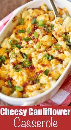 CHEESY CAULIFLOWER CASSEROLE – Top cooking