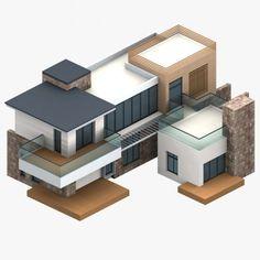 Minecraft House Designs, Minecraft Projects, Isometric Art, Isometric Design, Minecraft City, Minecraft Houses, Minecraft Architecture, Architecture Design, 3d Modellierung